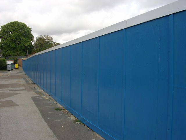 Timber site hoarding